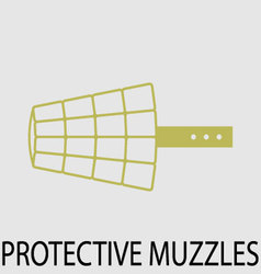 Protection muzzle animal dog vector image vector image