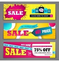 Sale banners design set vector image vector image