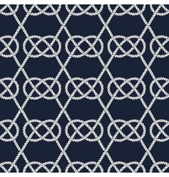Seamless nautical rope pattern Carrick Bend knot vector image vector image