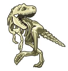 skeleton of classic prehistoric dinosaur vector image vector image