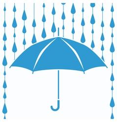 umbrella protection from rain vector image vector image