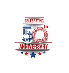 50th Years Anniversary Celebration vector image