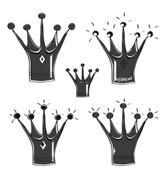 A fairytale crown set on white background vector image