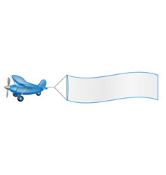 Aeroplane pulling banner vector