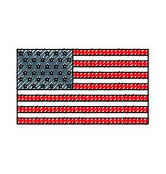 american flag icon vector image