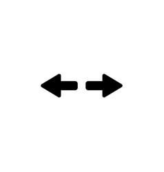arrow to left and right vector image