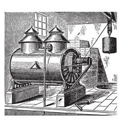 Auto pneumatic apparatus vintage vector