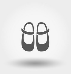 baby shoes icon silhouette flat design vector image