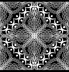 black and white lace floral seamless pattern vector image
