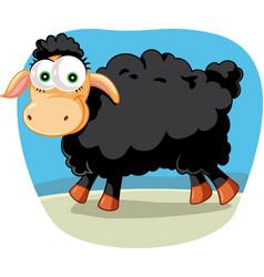 black sheep cartoon vector image