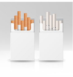 Blank pack package box of cigarettes 3d vector