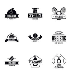Body hygiene logo set simple style vector