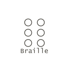 Braille icon simple element from map and vector