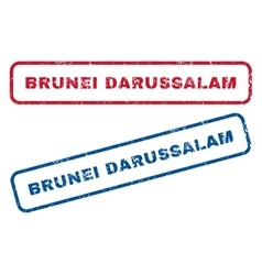 Brunei Darussalam Rubber Stamps vector