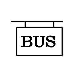 bus sign icon vector image
