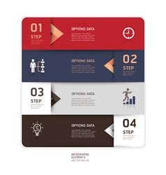 Business step up options origami style vector