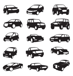 cars silhouettes vector image