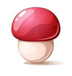 cartoon red mushroom on white background vector image