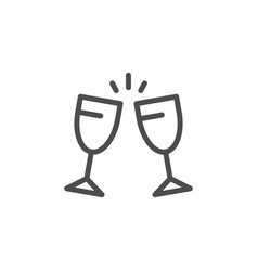 cheers line icon vector image