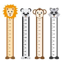 Children meter wall vector