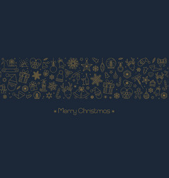 christmas and new year background with geometric vector image