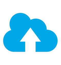 cloud computing with arrow up vector image