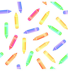 colorful pencil seamless pattern vector image
