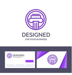 creative business card and logo template column vector image