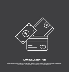 credit card money currency dollar wallet icon vector image