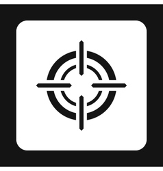 Crosshair reticle icon simple style vector