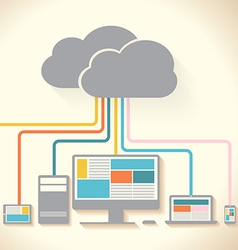 device clouds vector image