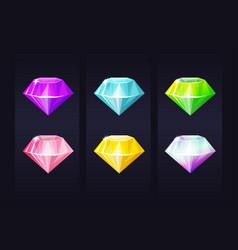 diamond multicolored jewel gem bright precious vector image