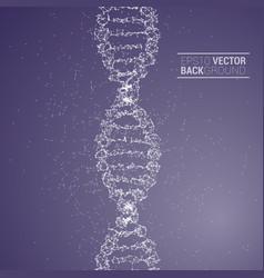 dna molecule back vector image