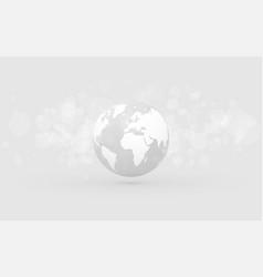 Earth globe abstract bokeh gray background vector
