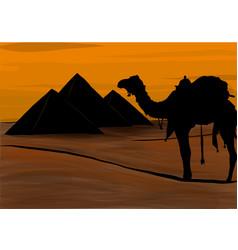 egypt great pyramids giza vector image