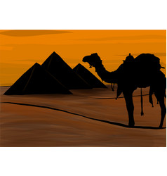 Egypt the great pyramids of giza vector