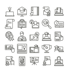 elearning online education and development class vector image