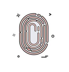 finger print icon design vector image