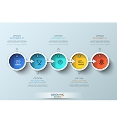 Flat connection timeline infographic design vector