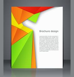 geometric design brochures magazine cover flyer vector image