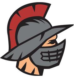 Gladiator head logo mascot vector