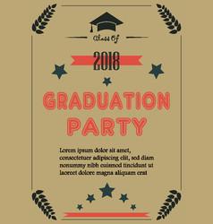 graduation announcement vector image