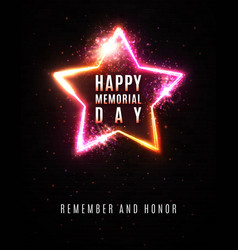 happy memorial day background remember and honor vector image