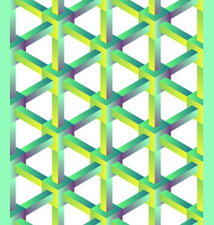 hexagonal geometric pattern vector image