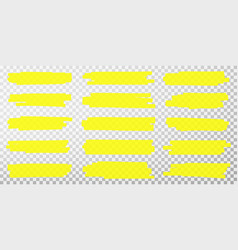 highlighter lines hand drawn yellow vector image