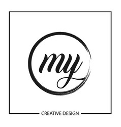 Initial letter my logo template design vector