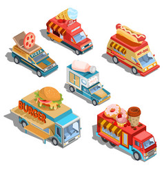 Isometric of cars fast delivery of vector