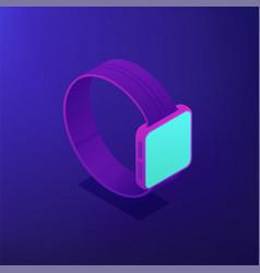 isometric smart watch 3d vector image