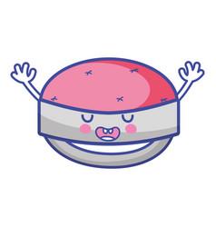 kawaii cute funny pin chishion vector image