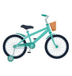kid bicycle on white background children bike vector image